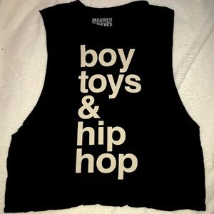 Married To The Mob Boy Toys & Hip Hop Muscle Tank